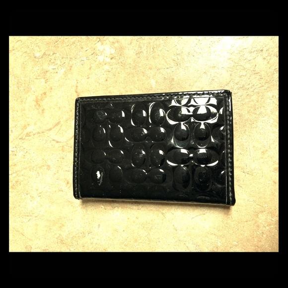 Coach Handbags - Coach Black Patent Leather Card Case